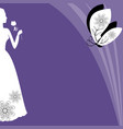 ultraviolet background with victorian lady vector image vector image