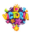 victoria vector image