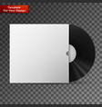 vinyl record in a paper case vector image vector image