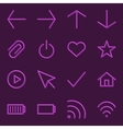 Volumetric Web Icon Collection vector image vector image