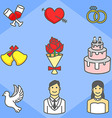 Wedding Simple Icon Pack vector image
