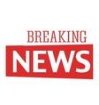Breaking news text vector image