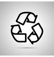 Recycling simple black icon vector image