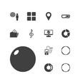 13 3d icons vector image vector image