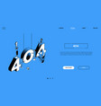 404 error - line design style isometric web banner vector image