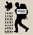 Backpacker Silhouettes vector image