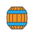 barrel flat line concept vector image vector image