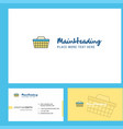 basket logo design with tagline front and back vector image vector image
