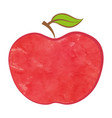bio apple isolated food icon vector image vector image