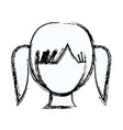 blurred silhouette faceless girl with high vector image vector image