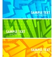 bright abstract banners vector image vector image