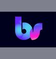 bs b s spink blue gradient alphabet letter vector image vector image