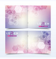 business templates square brochure magazine vector image vector image