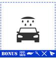 car wash icon flat vector image vector image