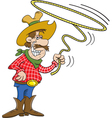 Cartoon Cowboy with a Lasso vector image vector image