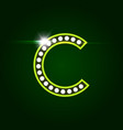 casino and resort letter c luxury letter with vector image
