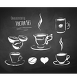 Chalked coffee set vector image