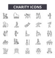 charity line icons signs set outline vector image vector image
