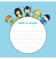 children back to school vector image