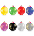 christmas decorative ball in different color vector image vector image