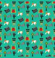 cinema seamless pattern vector image vector image