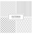 collection simple seamless geometric patterns vector image vector image