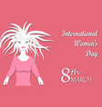 concept of international women s day or mother s vector image vector image