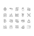 drawing line icons signs set outline vector image vector image