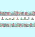 european city street cute suburban buildings vector image vector image