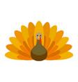farm turkey icon flat style vector image vector image