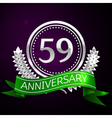 Fifty nine years anniversary celebration with vector image vector image