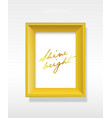 golden background picture frame with shine bright vector image