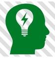 Head Bulb Icon vector image