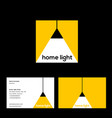 home lighting shop logo lamp and ray light vector image