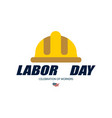 labor day poster or banner labor day greeting vector image vector image