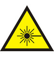 laser radiation sign vector image