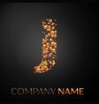 letter j logo gold dots alphabet logotype vector image vector image