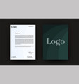 letterhead minimalistic style flyer business vector image