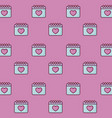 love calendars pattern vector image vector image