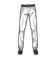 male legs in trousers and shoes sketch vector image vector image