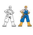 mechanic plumber man vector image