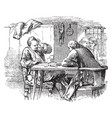 men at table vintage vector image vector image