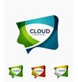 Modern cloud logo set vector image