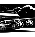 modern jet airplane ready to take off vector image vector image