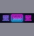 neon gradient sign happy new year 2020 on a dark vector image