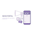 news portal concept template web banner with copy vector image vector image