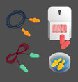 noise dust water protection ear plugs set vector image