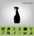 plastic bottle for cleaning black icon at vector image vector image