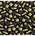 retro 80s geometry seamless pattern gold shape vector image vector image