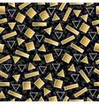 retro 80s geometry seamless pattern gold shape vector image